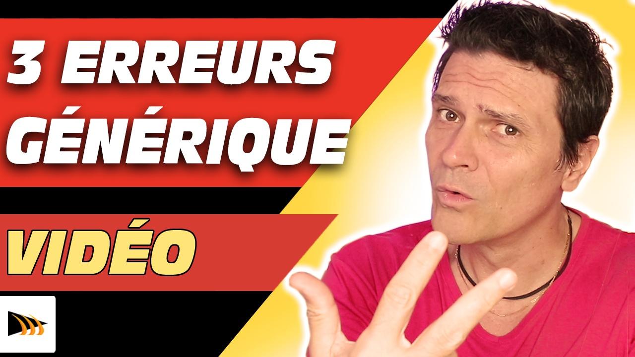 Comment faire un générique sur YouTube. 3 erreurs générique vidéo YouTube et conseils et astuces YouTube pour YouTubeurs.