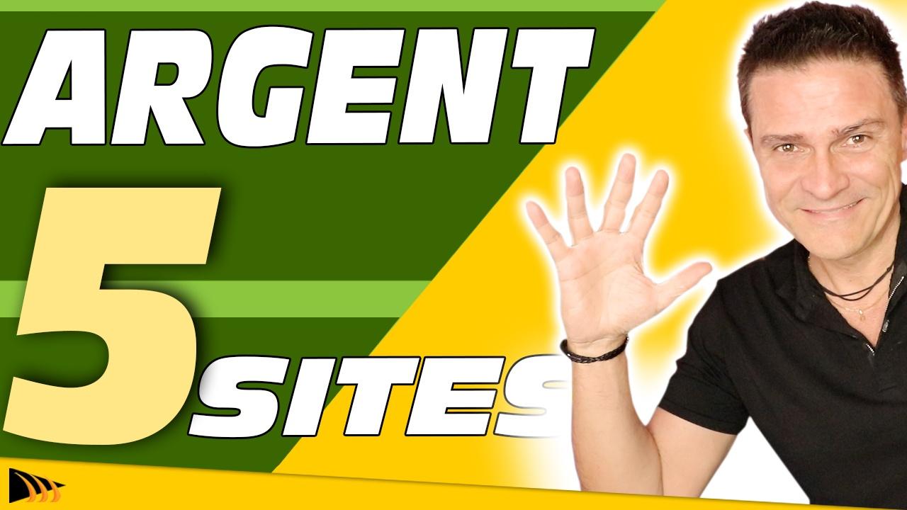 Sites pour gagner de l'argent sur internet. 5 Sites Puissants