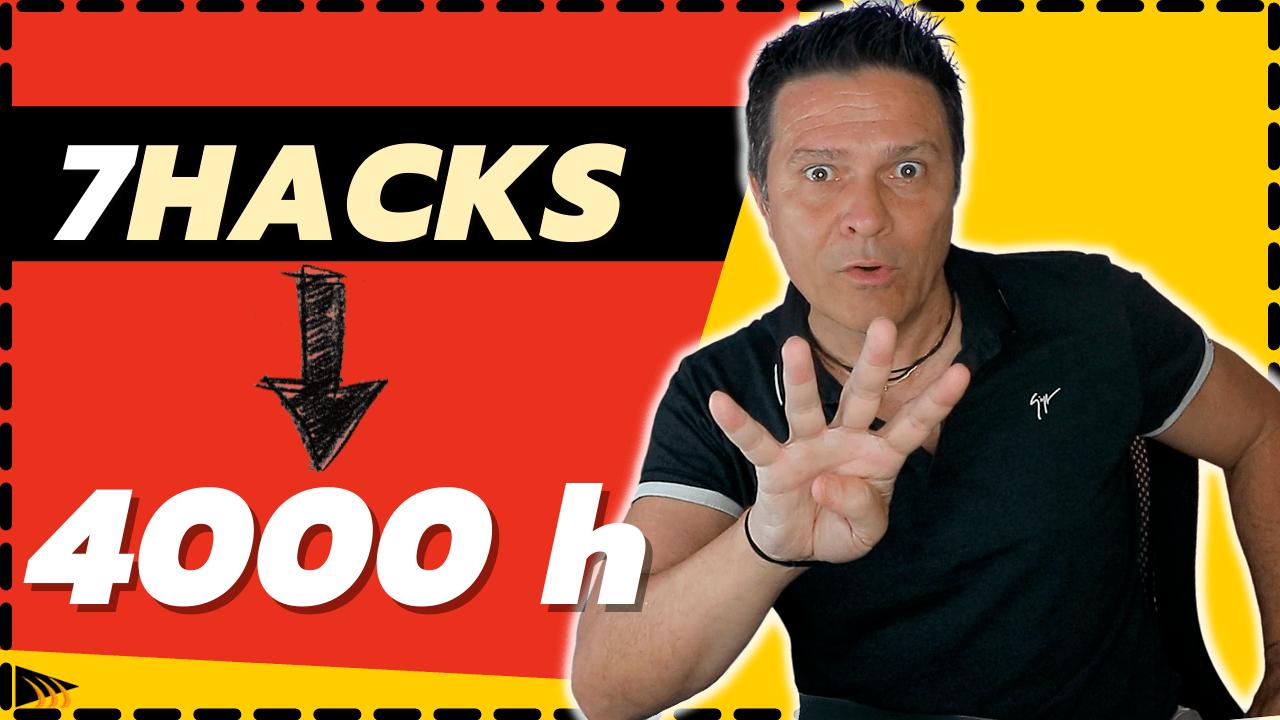 Comment avoir 4000 heures de visionnage sur YouTube facilement et rapidement